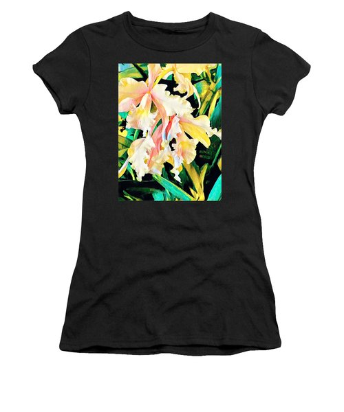 Two Orchids Pink Turquoise Women's T-Shirt