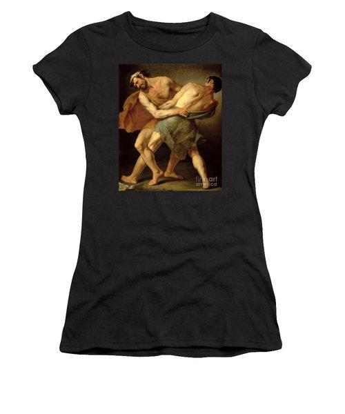 Two Wrestlers Women's T-Shirt