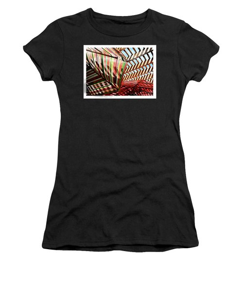 Umbrella Stipple Women's T-Shirt (Athletic Fit)