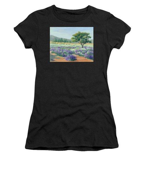 Under Blue Skies In Lavender Fields Women's T-Shirt (Athletic Fit)