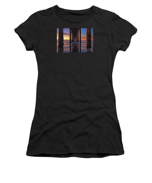 Under The Scripps Pier Women's T-Shirt (Athletic Fit)