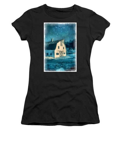 Under The Vermont Moonlight Watercolor Women's T-Shirt