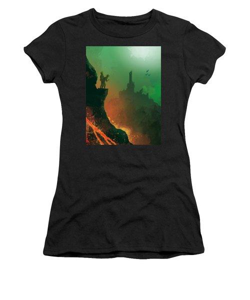Undersea Volcano Women's T-Shirt (Athletic Fit)