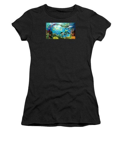Underwater Magic Women's T-Shirt (Athletic Fit)
