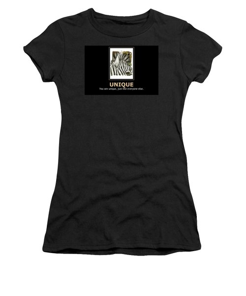 Unique Motivational Poster Women's T-Shirt (Athletic Fit)