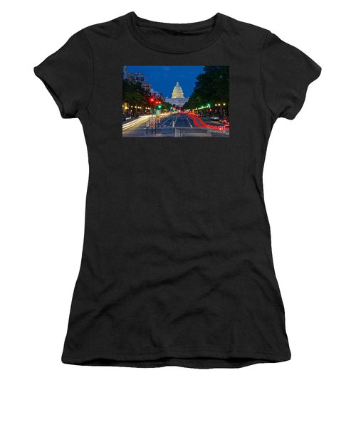 United States Capitol Along Pennsylvania Avenue In Washington, D.c.   Women's T-Shirt
