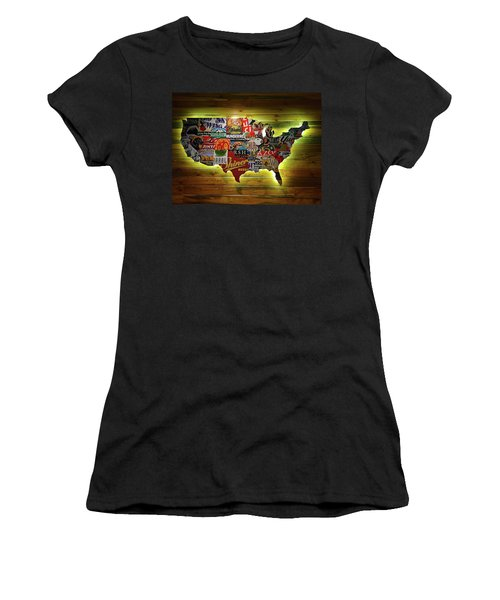 United States Wall Art Women's T-Shirt (Athletic Fit)