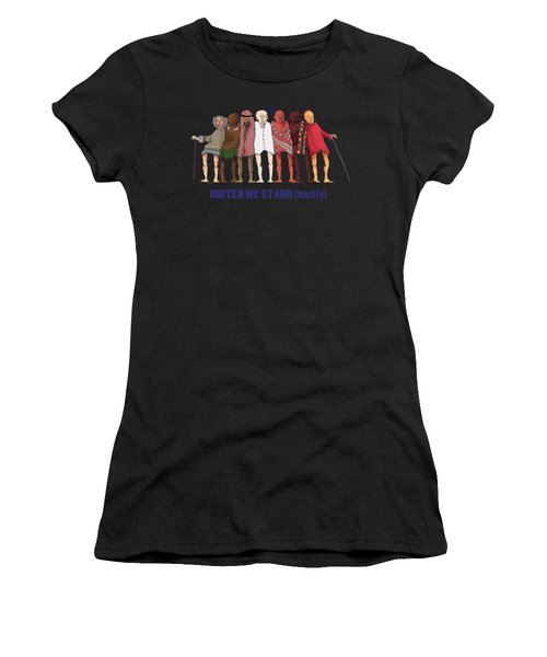 United We Stand Transparent Background Women's T-Shirt (Athletic Fit)