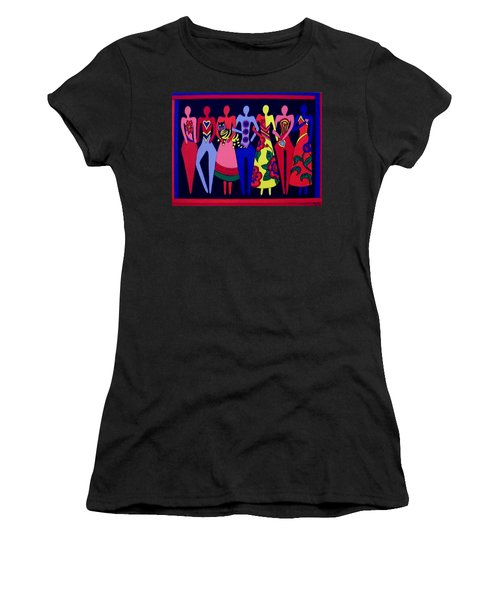 Women's T-Shirt (Junior Cut) featuring the painting Unity 1 by Stephanie Moore