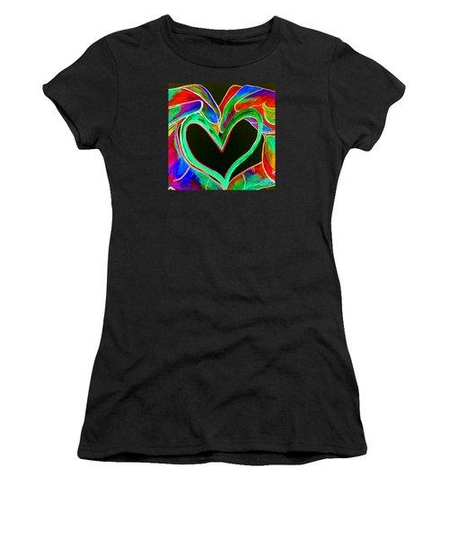 Universal Sign For Love Women's T-Shirt (Junior Cut) by Eloise Schneider