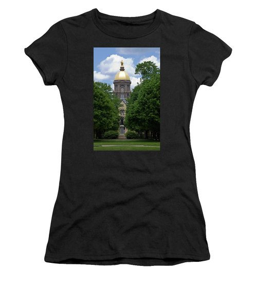 University Of Notre Dame Golden Dome Women's T-Shirt (Athletic Fit)