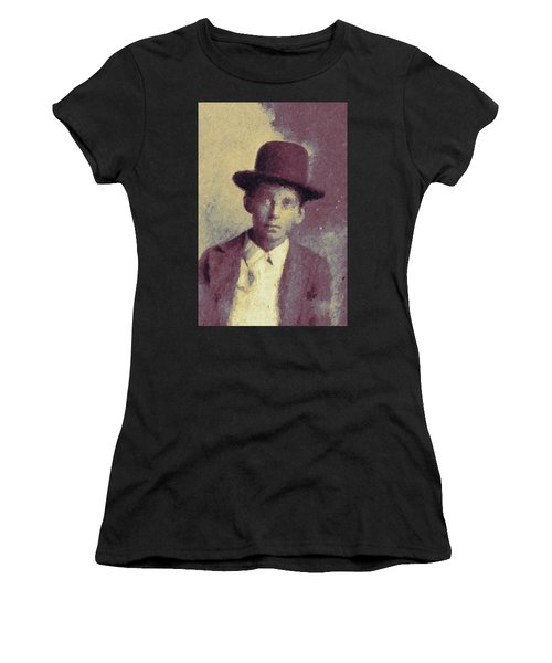 Unknown Boy In A Bowler Hat Women's T-Shirt