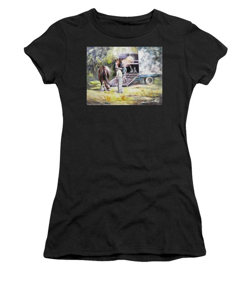 Unloading The Clydesdales Women's T-Shirt