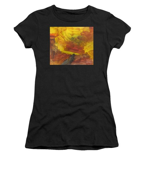 Untitled 117 Original Painting Women's T-Shirt (Athletic Fit)