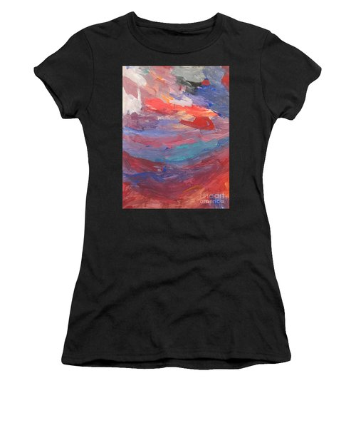 Untitled 96 Original Painting Women's T-Shirt (Athletic Fit)