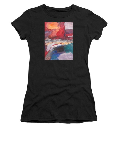 Untitled 98 Original Painting Women's T-Shirt (Athletic Fit)
