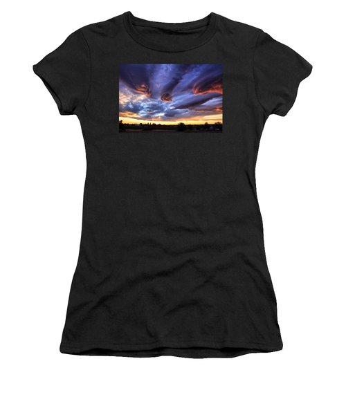 Alien Cloud Formations Women's T-Shirt (Athletic Fit)