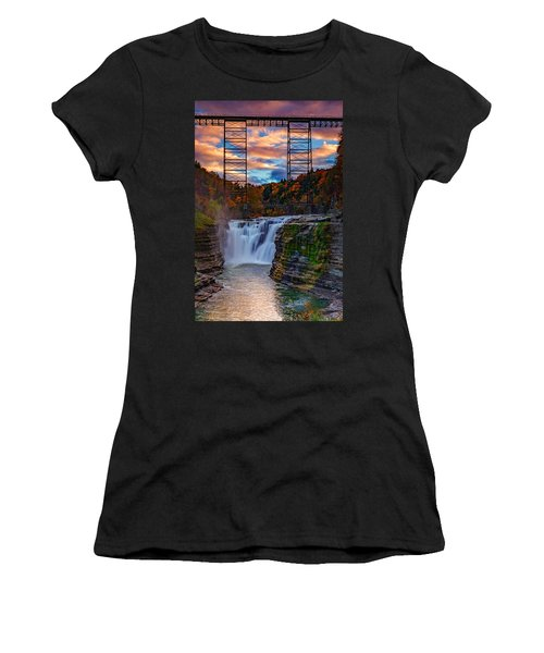 Upper Falls Letchworth State Park Women's T-Shirt (Athletic Fit)