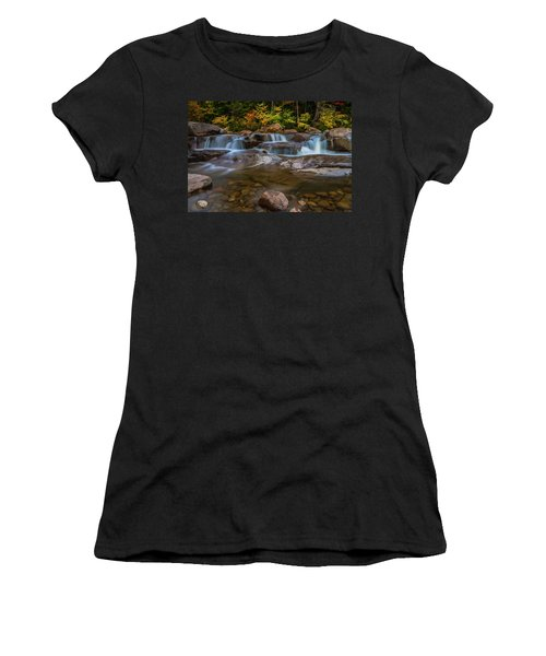 Upper Swift River Falls In White Mountains New Hampshire Women's T-Shirt
