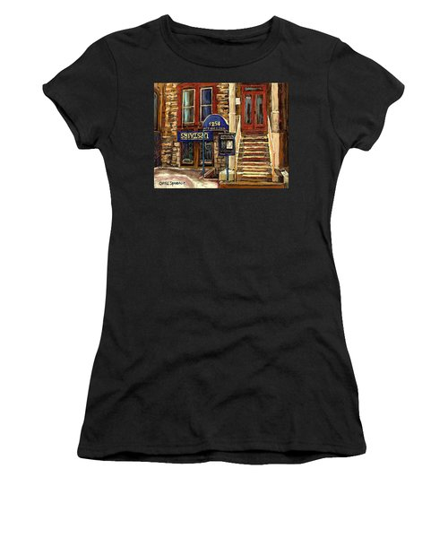 Upstairs Jazz Bar And Grill Montreal Women's T-Shirt