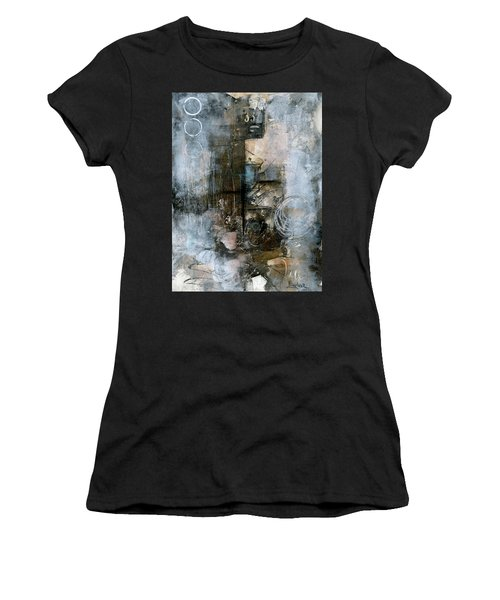 Urban Abstract Cool Tones Women's T-Shirt (Athletic Fit)