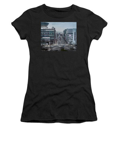 Urban Avenue, Kyoto Japan Women's T-Shirt (Athletic Fit)