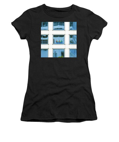 Women's T-Shirt featuring the photograph Urban Squares by Marla Craven