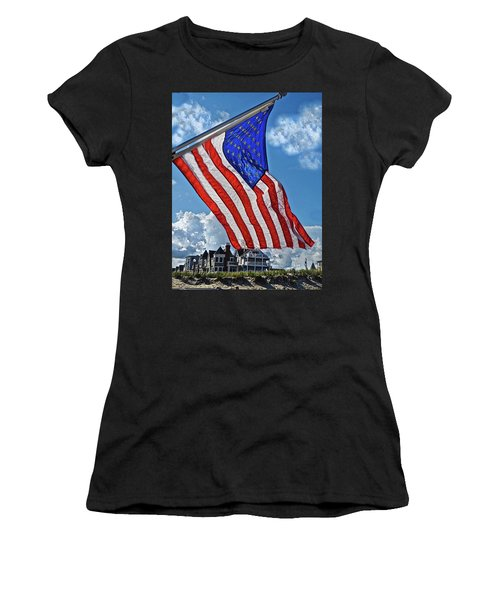 Us Flag,ocean Grove,nj Flag Women's T-Shirt (Athletic Fit)
