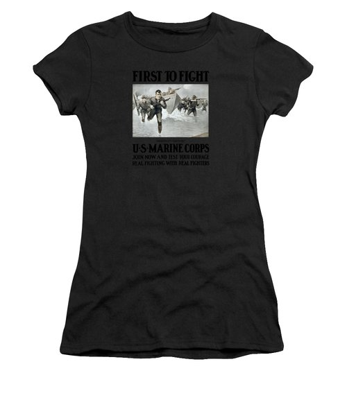 Us Marine Corps - First To Fight  Women's T-Shirt