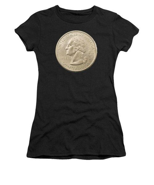 Us One Quarter Dollar Coin  Women's T-Shirt