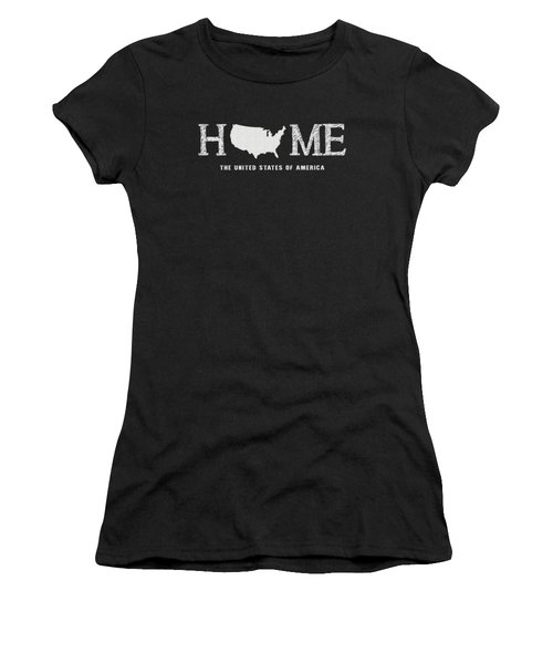 Women's T-Shirt featuring the mixed media Usa Home by Nancy Ingersoll