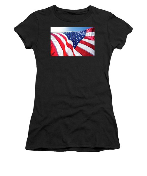 Usa,american Flag,rhe Symbolic Of Liberty,freedom,patriotic,hono Women's T-Shirt (Athletic Fit)