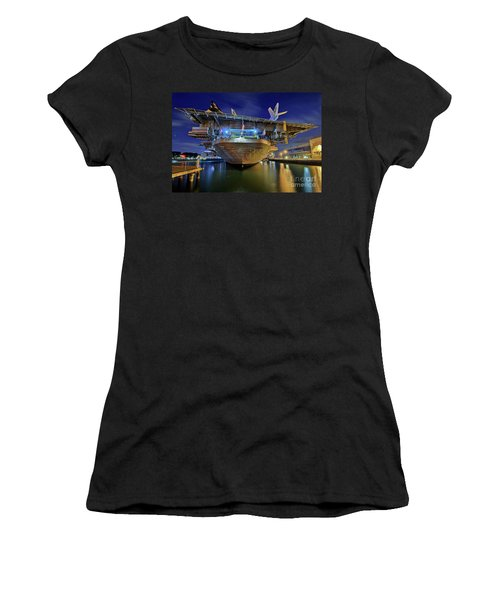 Uss Midway Aircraft Carrier  Women's T-Shirt (Athletic Fit)