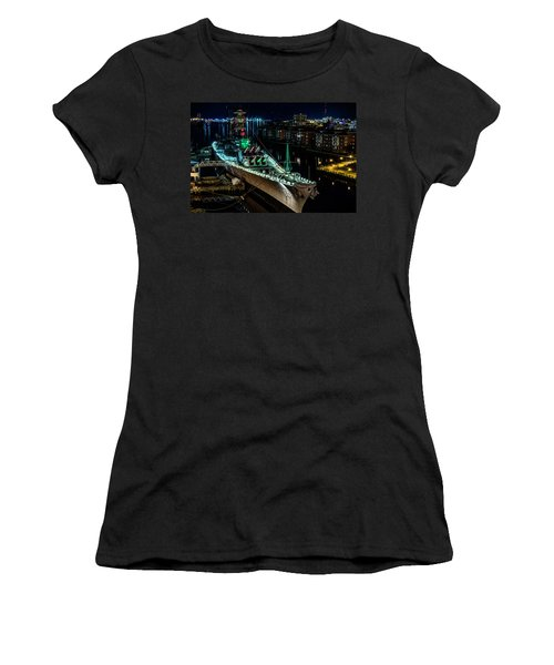 Uss Wisconsin Women's T-Shirt (Athletic Fit)