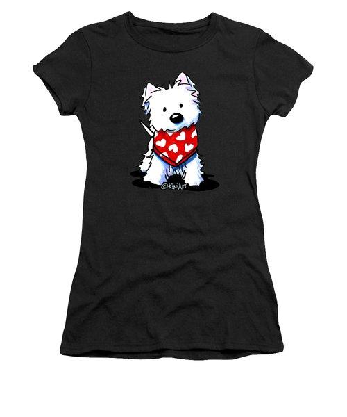 Valentine Westie Women's T-Shirt (Athletic Fit)