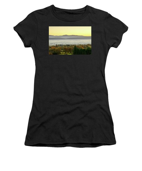 Valley Of Mist Women's T-Shirt (Athletic Fit)