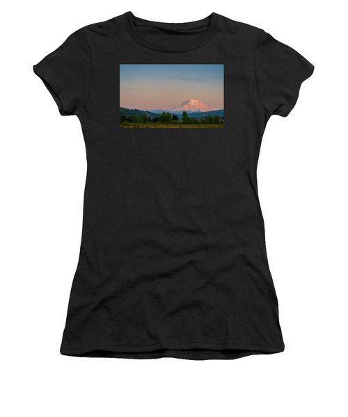 Valley Sunset Of Mt Rainier Women's T-Shirt (Junior Cut)