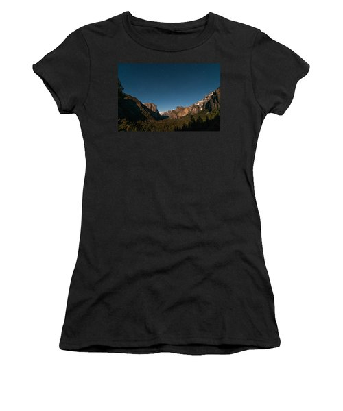 Valley View By Moon Light Women's T-Shirt (Athletic Fit)