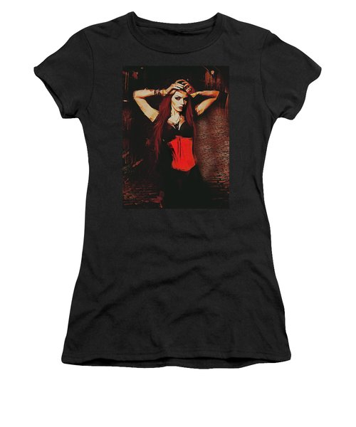 Vampire Compelled  Women's T-Shirt (Junior Cut) by Galen Valle