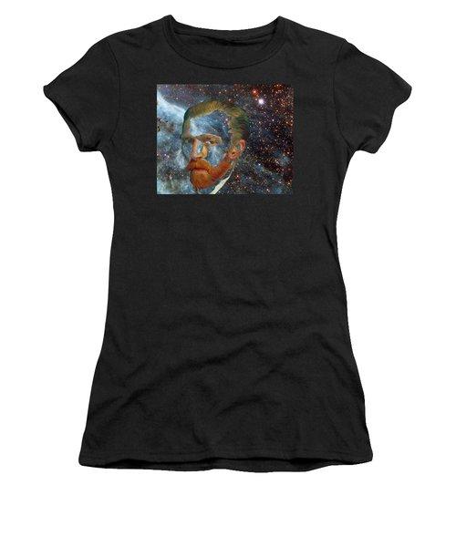 Van Gogh Art Study In Blue Women's T-Shirt