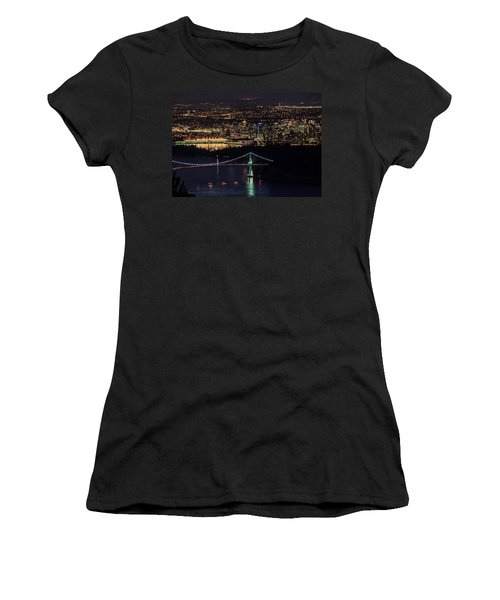 Vancouver Night From Cypress Mountain Women's T-Shirt