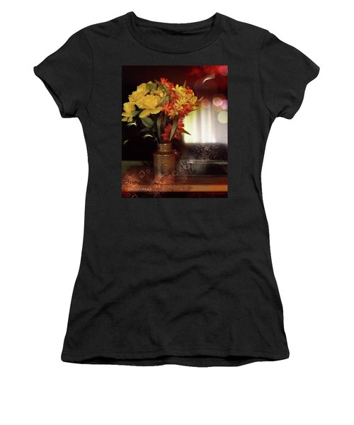 Vase Of Flowers Women's T-Shirt (Athletic Fit)