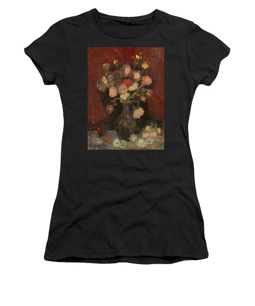 Vase With Chinese Asters And Gladioli Women's T-Shirt