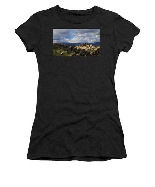 Women's T-Shirt (Junior Cut) featuring the photograph Vasquez Rocks Natural Area by Viktor Savchenko
