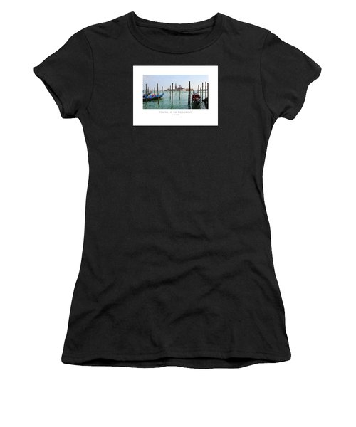 Women's T-Shirt featuring the digital art Venetia - At The Waterfront by Julian Perry