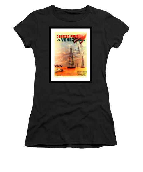 Venezuela Tourism Petroleum Art  Women's T-Shirt (Athletic Fit)