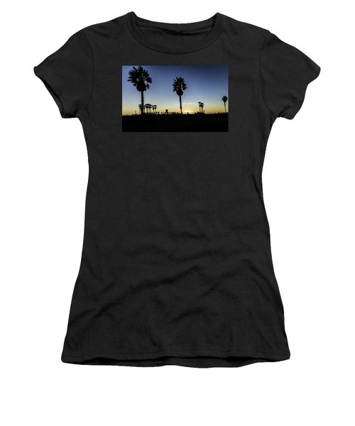 Women's T-Shirt featuring the photograph Venice Beach Skatepark by Chris Cousins