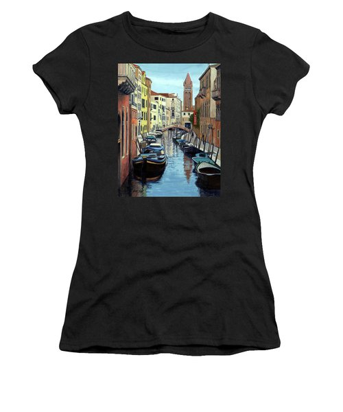 Venice Canal Reflections Women's T-Shirt (Athletic Fit)