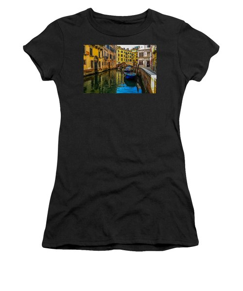 Venice Canal In Italy Women's T-Shirt (Athletic Fit)