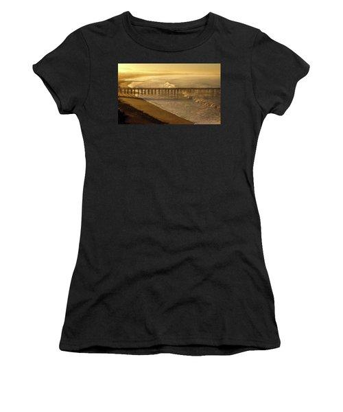 Ventura, Ca Pier At Sunrise Women's T-Shirt (Athletic Fit)